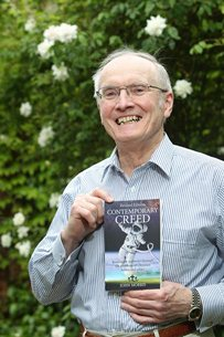 Photo of John Morris at the launch of his book
